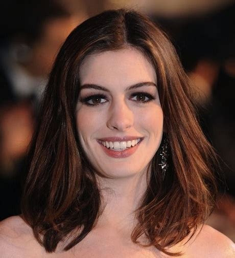 middle part medium length hairstyles