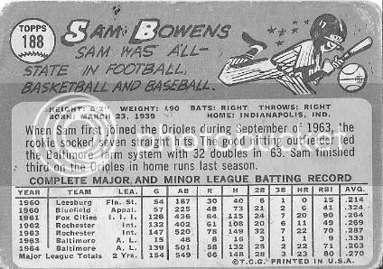 #188 Sam Bowens (back)