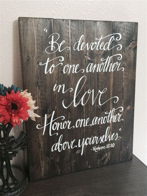 Wedding Quotes : Wedding Sign Bible Verse Sign Be Devoted