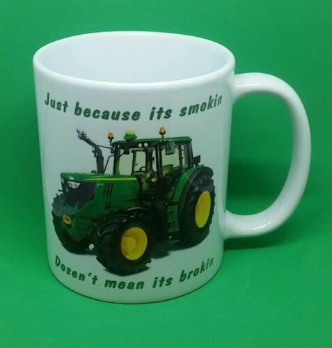 John Deere Tractor Coffee Mug Novelty Farming Gift Countryside Green Funny Xmas Agricultural Industrial Telephoneheights Collectables