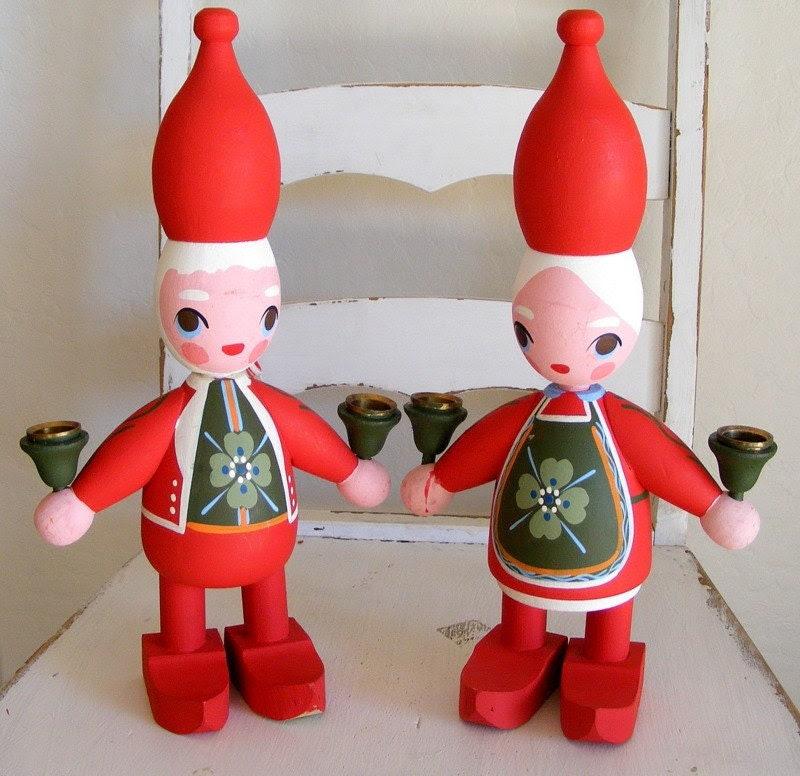 Scandinavian Christmas Candle Holders