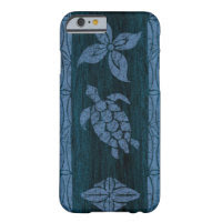 Samoan Tapa Hawaiian Faux Wood Surfboard Barely There iPhone 6 Case