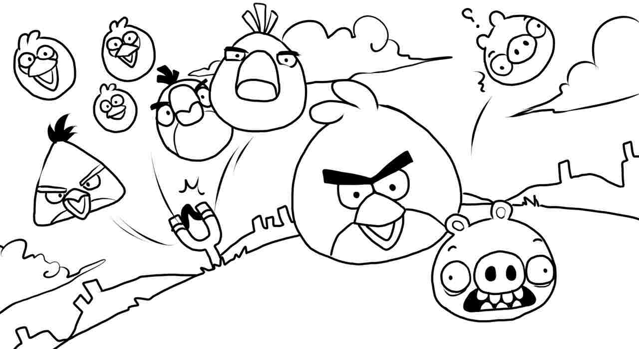 Angry Birds Colouring Pages To Print At Getcoloringscom Free