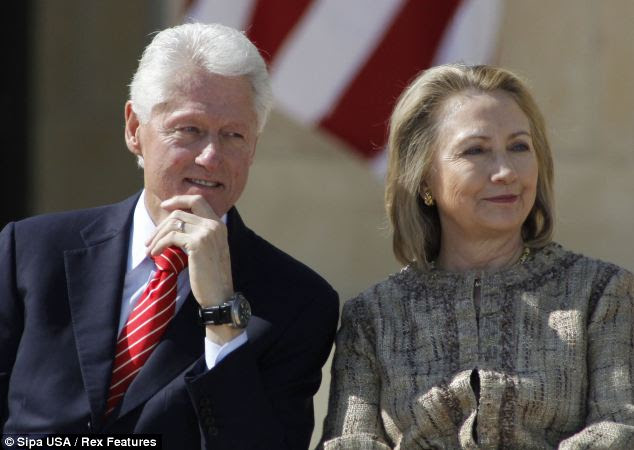 Together: At the time of the affair between 1995 and 1997, he was married to Hillary Clinton, pictured in April. There are concerns that these revelations could upset her expected run for the White House