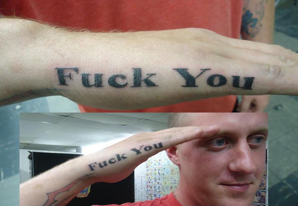 Guy Gets Tattoo On His Hand So He Wouldnt Get Called Back In The