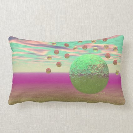 Halo of Moons, Abstract Colorful Cosmos Pillows