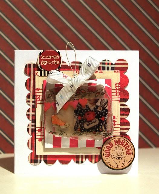 Tartan, Converse and Mica - birthday card