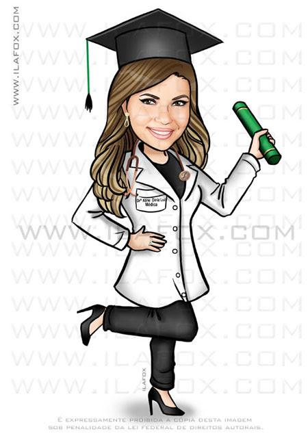 caricatura formanda, caricatura medicina, caricatura bonita, by ila fox