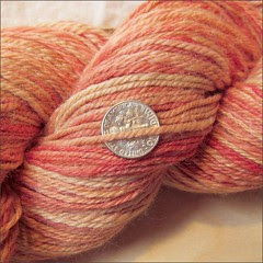 Pilgrim handspun, close-up