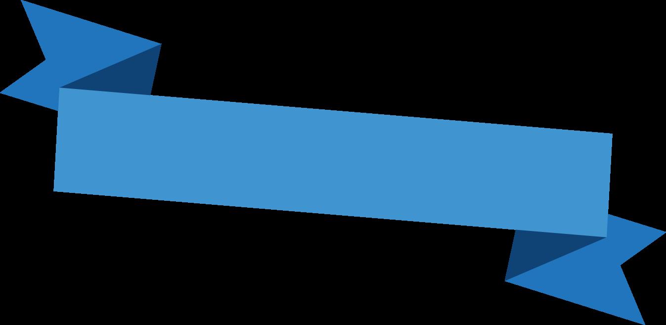 見出しタイトルリボン素材1 青色系テープ枠 可愛い無料イラスト素材集