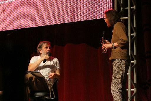 Slavoj Zizek esteve fora de sintonia com tradutora do evento. Credito: Paulo Paiva/DP/D.A Press.