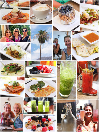 Collage of Cheeky's menu items, Palm Springs 2013