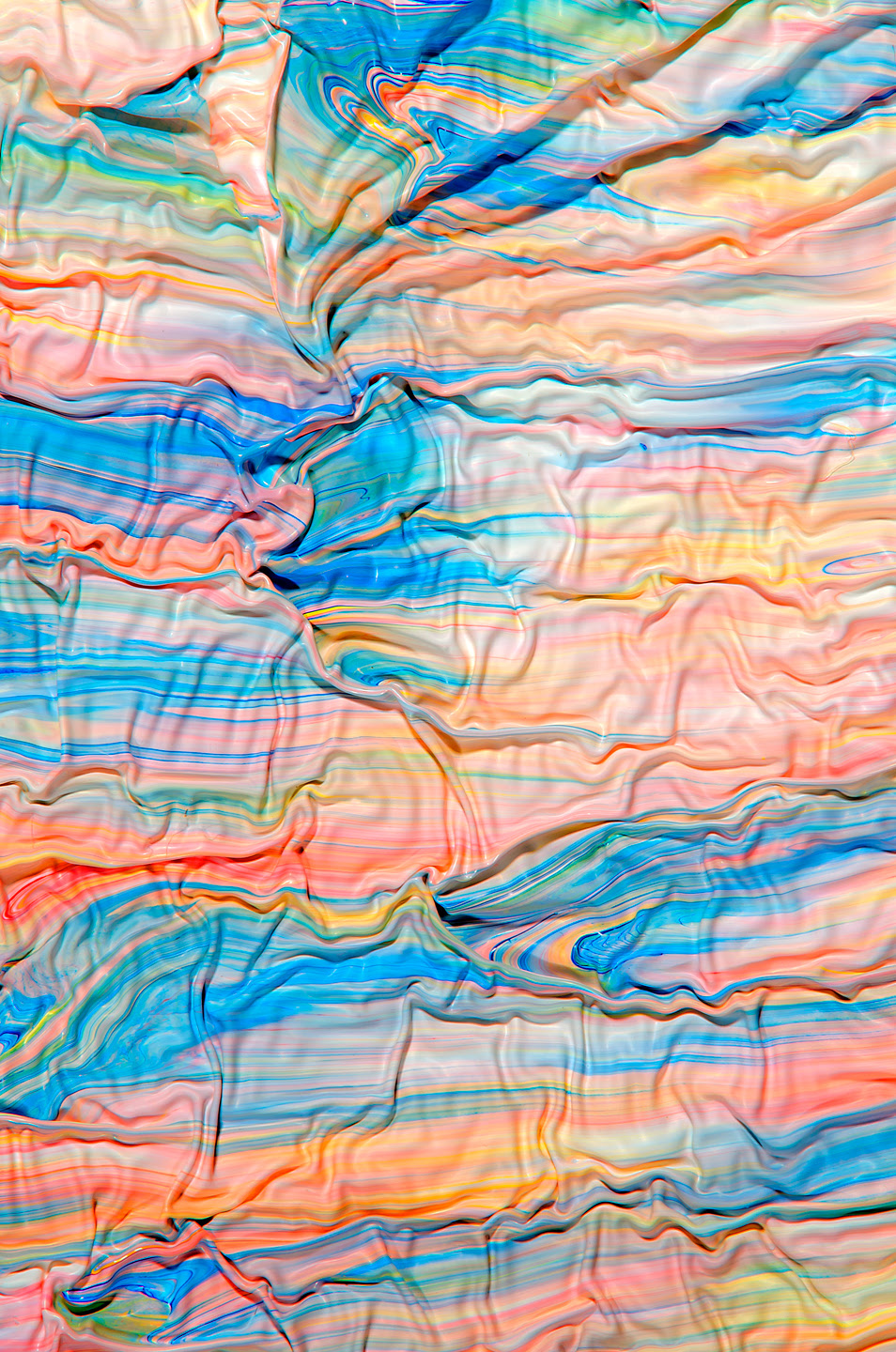 Swirling Photographs of Mixed Paint by Mark Lovejoy psychedelic paint color abstract