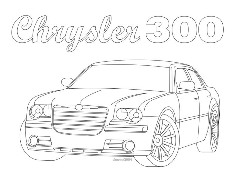 530 Challenger Car Coloring Pages Images & Pictures In HD