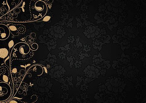 gambar ornamen oriental emas kain sutera pola
