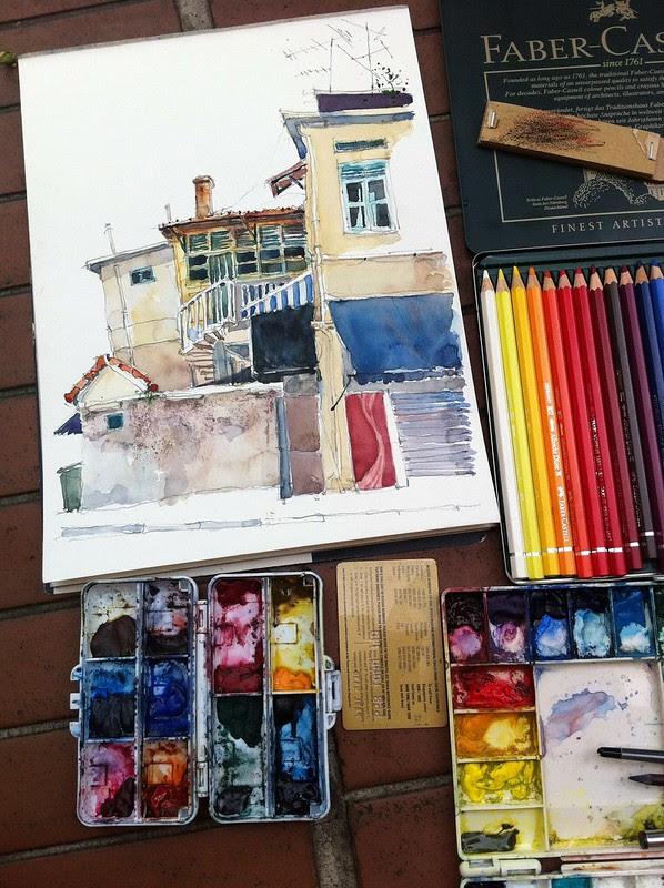 Painting at Mackenzie Road