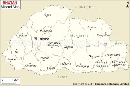 Bhutan Mineral Map Natural Resources Of Bhutan