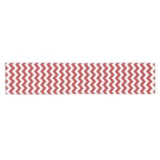Red and White Zigzag Table Runner Short Table Runner