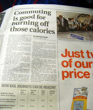Burn off calories by commuting - Evening Standard