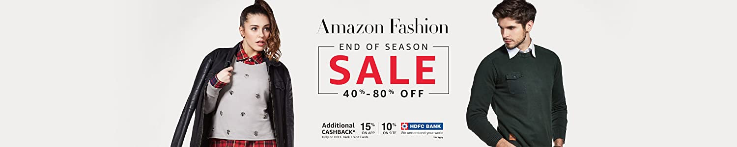 Amazon End of Season Sale - Upto 80% off on Clothing