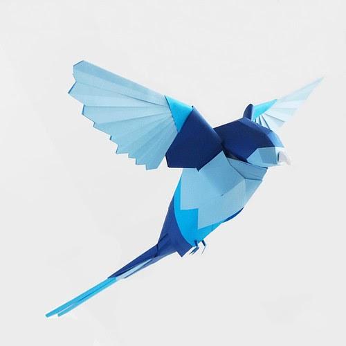 Paper Sculpture Birds - Marine Coutroutsios