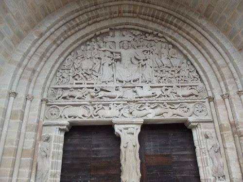 The door of the church at Beaulieu by rajmarshall