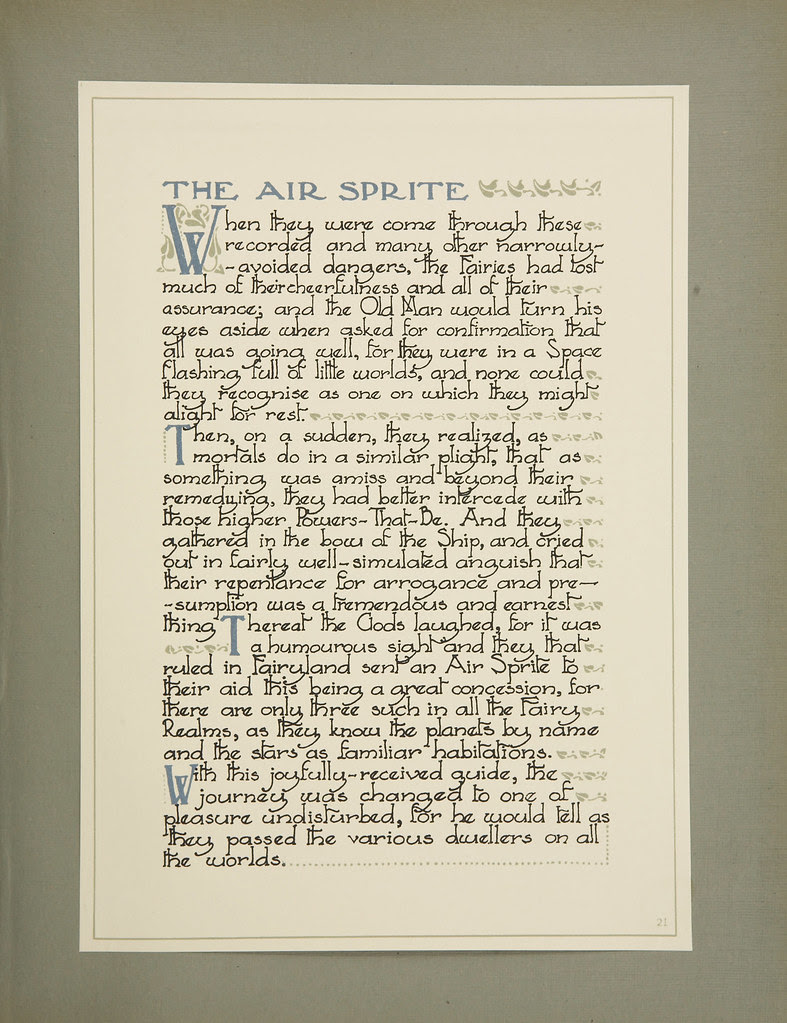 William Timlin - The Air Sprite, Text Page(1923)