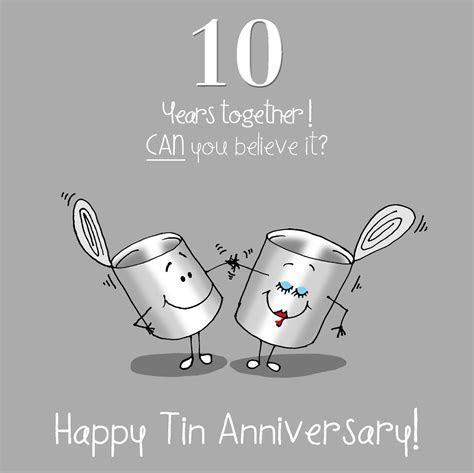 10th Anniversary Greetings Card   Happy Tin Anniversary   eBay