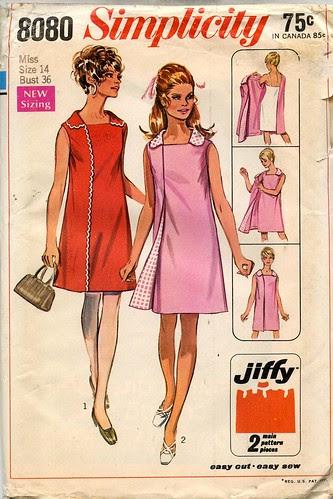 Vintage Wrap Dress Pattern, 1969