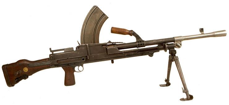 Deactivated Dunkirk era British Dovetail Bren gun MK1