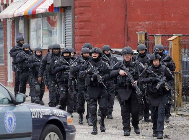 BATTLEFIELD USA: De Facto State of Martial Law Declared In Boston *Pics From the War Zone* Boston martial law1