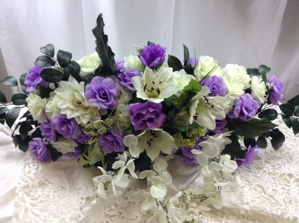PURPLE SWAG 36\u0026quot; Centerpieces Silk Wedding Flowers Arch Gazebo Decor Roses  eBay