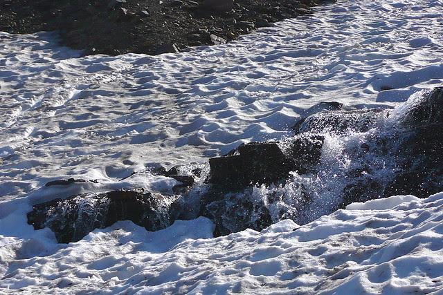 P1170185 Snow Melt Water on Hidden Lake Trail