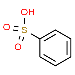 ChemSpider 2D Image | Benzenesulfonic acid | C6H6O3S