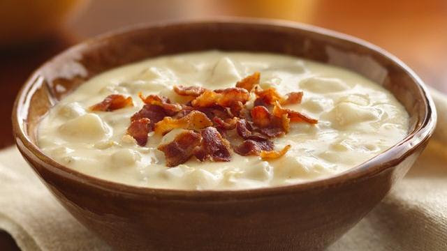 Cheesy Potato Soup (Cooking for Two)