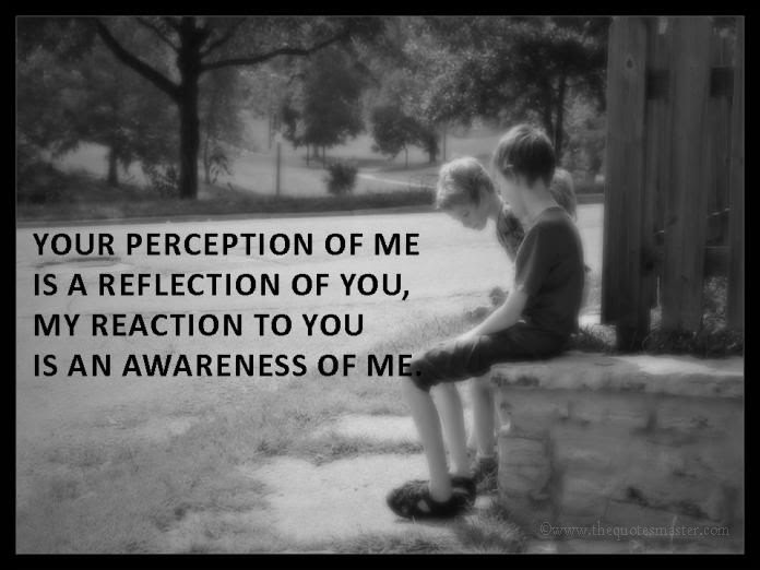 Your Perception Of Me