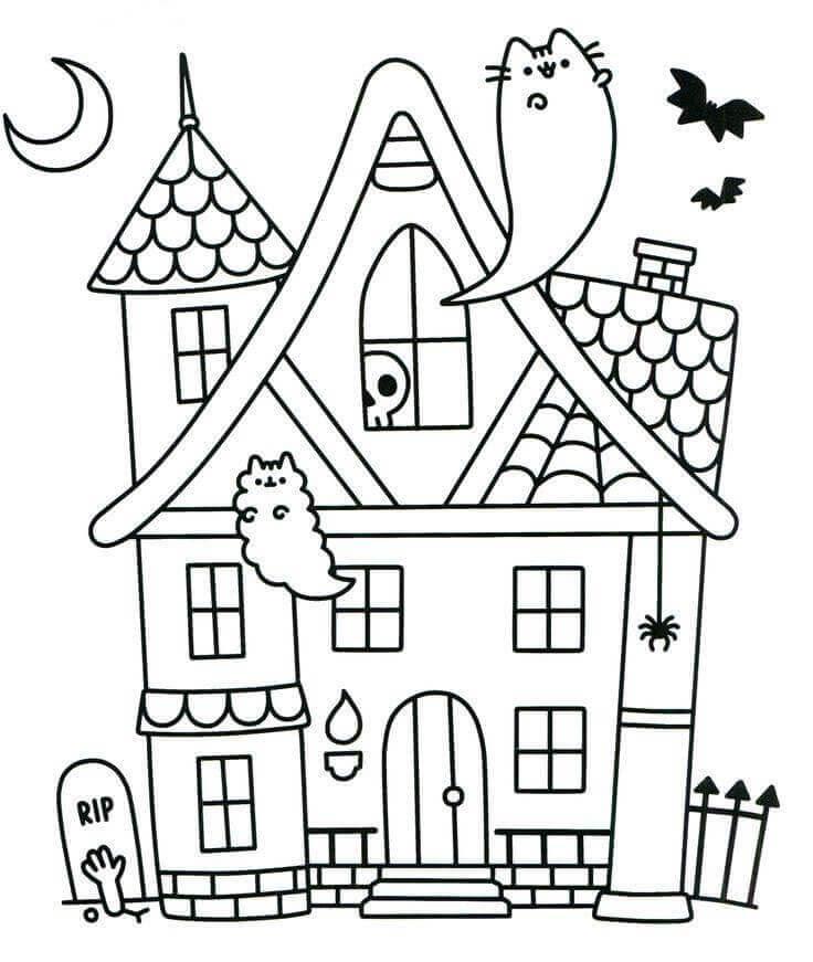 Kawaii Pusheen Cat Coloring Pages Berbagi Ilmu Belajar Bersama