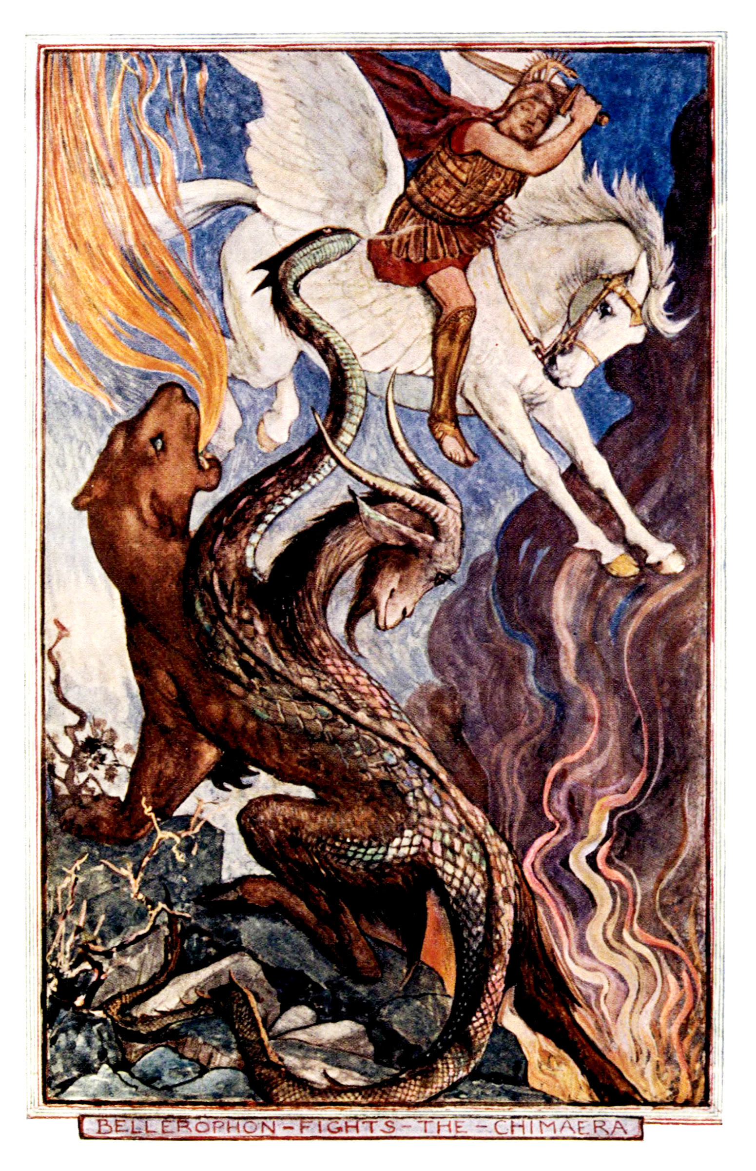 Henry Justice Ford - The all sorts of stories book by Mrs. Lang ; edited by Andrew Lang, 1911 (color plate)
