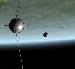 Sputnik 1 in Orbit Sep 10-4-57