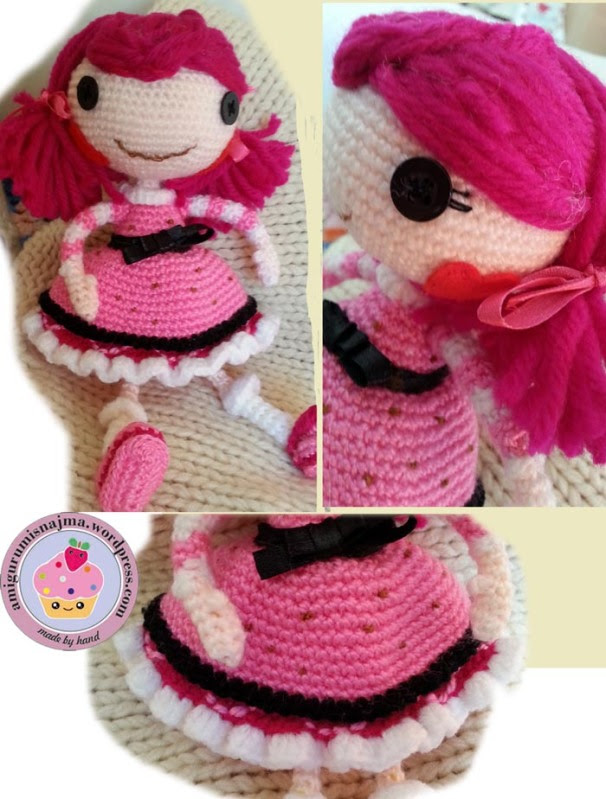 Lalaloopsy Toffee Cocoa Cuddles doll amigurumi-04