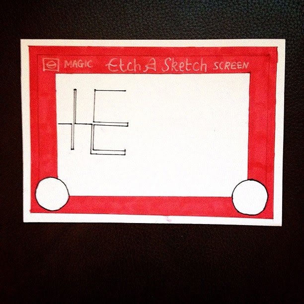 Day 12: Toy I always wanted one of these, I didn't finish my hello because usually we  butchered it in the first bit #doodleaday #doodleadaymarch #etchasketch