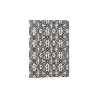 Passport Holder with Silver/Grey Design