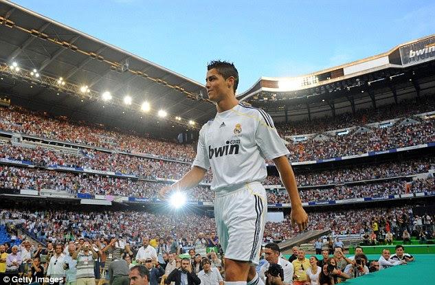 El ex jugador del Manchester United al Real Madrid en julio de 2009 por 80 millones de £