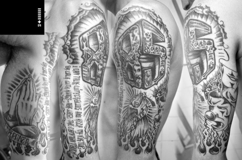 Black N White Half Sleeve Tattoo Design Tattoos Book 65000