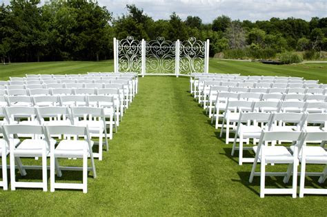 Wedding Ceremony Chair Setup   Wedding Gallery
