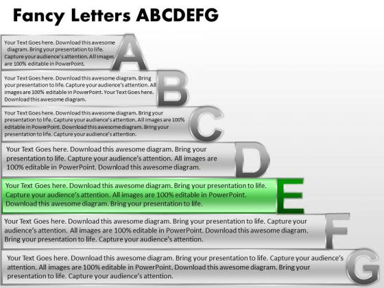 Ppt Fancy Letters Abcdefg With Textboxes Business Plan PowerPoint ...
