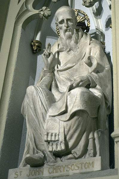 Statue of St John Chrysostom at St Patrick's Cathedral, New York City. Photo taken by drswan