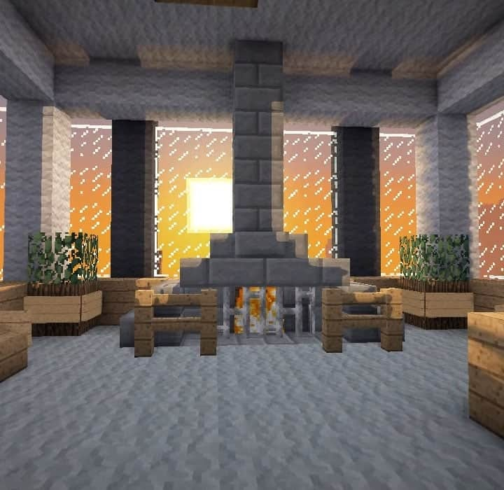 Awesome Minecraft Interior Design Fireplace wallpaper