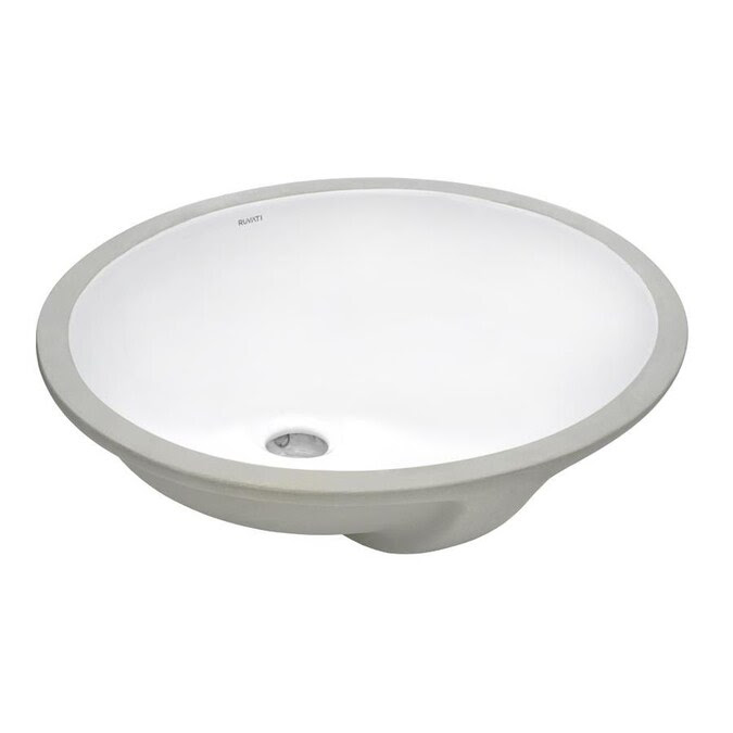 Ruvati Krona White Ceramic Undermount Round Bathroom Sink 19 5 In X 16 In In The Bathroom Sinks Department At Lowes Com