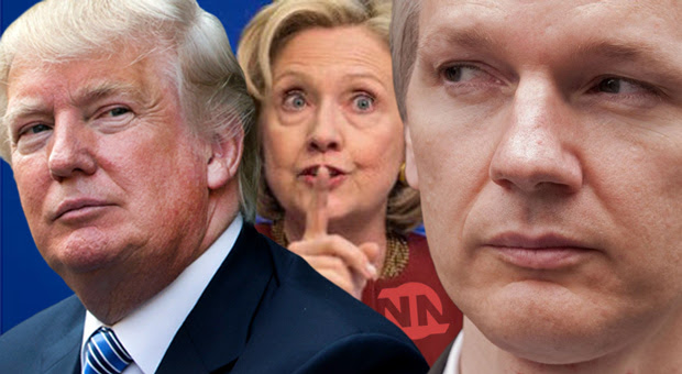 assange warns of hillary clinton s plans to replace trump with pence